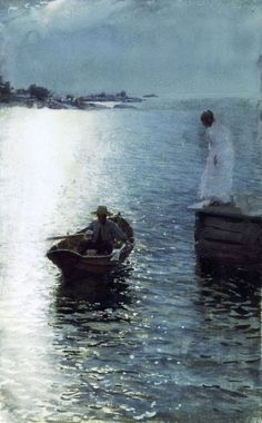 Anders Zorn, Sommervergnügen, 1886. If I can get light on water to look like this, I will die happy