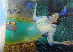 "Saatchi Art Artist katrine van klaveren; Collage, ""lady in the lake"" #art"