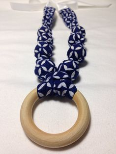 Fabric nursing necklace feeding necklace teething by KISSESFORBABY, $11.00