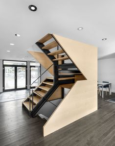 Closse Residence: Naturehumaine Reinvents 1960's Dwelling in Montréal — KNSTRCT - Carefully Curated Design News staircase