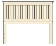 The Plans For A Beadboard Headboard
