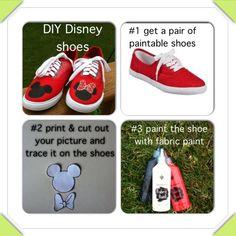 DIY Disney shoes