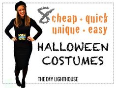 8 ideas for cheap quick unique and easy halloween costumes. If you don't know what to be for halloween, here are some super easy halloween costume ideas for a girl or boy. Cheap Easy Halloween Costumes, Halloween Costume Videos, Diy Costumes, Halloween Diy, Costume Ideas, Samhain, Halloween This Year, Costumes For Teens, Halloween Disfraces