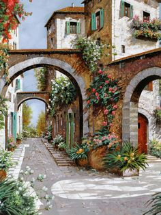 Wall Art - Painting - Tre Archi by Guido Borelli Canvas Art, Canvas Prints, Art Prints, Belle Image Nature, Fine Art Amerika, Beautiful Paintings, Painting Inspiration, Art Pictures, Tuscany