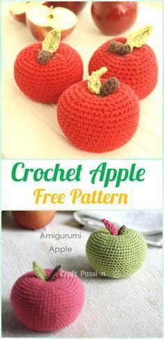 Crochet Amigurumi Apple Free Pattern - Crochet Amigurumi Fruits Free  Patterns Virkade Dockor c0e0d50f99ec4