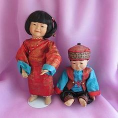 Ming and Mei-mei SOLD #dollshopsunited