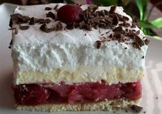 Brzi kolač od višanja, keksa i žutog fila ~ Recepti i Ideje Czech Recipes, Ethnic Recipes, No Bake Desserts, Dessert Recipes, Quick Cake, Kolaci I Torte, Quick Easy Meals, No Bake Cake, Vanilla Cake