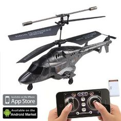 R/C Gyro Rechargeable Helicopter For iPhone iPod Andriod Smart Phone Best Android, Android Apps, Cool Tech Gadgets, Tech Toys, App Control, Iphone Accessories, Digital Camera, Ios, Smartphone