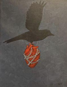 "Pen and Ink, Drawing ""Stolen Heart"" / Anatomical Heart Illustration, Rabe, Anatomical Heart, Heart Images, Human Heart, Anatomy Art, Human Anatomy, Lonely Heart, Heart Art"