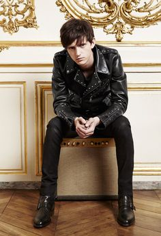 The Kooples Man FW13 #thekooples #leather #biker #jacket #studs