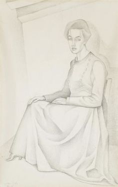 Femme Assise 1918 (47,4 x 30,6 cm)