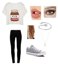 """Untitled #25"" by shea-sampey on Polyvore featuring J Brand, Converse and Charlotte Tilbury"