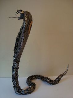 Scrap Metal cobra sculpture