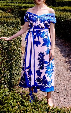 Cornflowers Midi Dress by YULIYA MAGDYCH Now Available on Moda Operandi