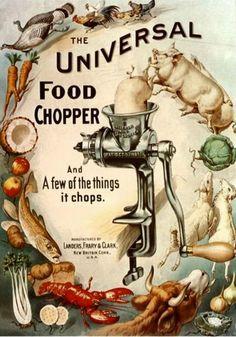 Magnet Vintage Poster Magnets Universal Food Chopper Vegetables Animals | eBay