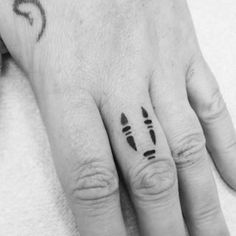 "…that are very simple and minimalistic… | 24 Hauntingly Beautiful Tattoos Featuring No Face From ""Spirited Away"""