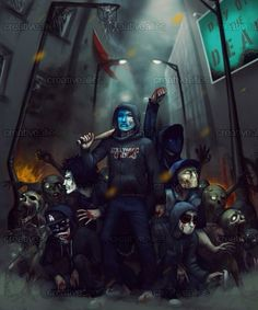 Hollywood Undead looks so cool in this