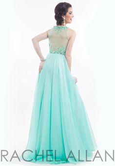 Rachel Allan Long Chiffon Dress 6956