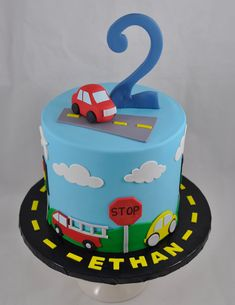 Toddler Birthday Cakes, 2nd Birthday Party For Boys, Baby Boy Birthday Cake, Baby Boy Cakes, Themed Birthday Cakes, Cars Birthday Parties, First Birthday Cakes, Themed Cakes, Cars Theme Cake
