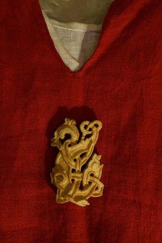 Hand Carved Bone Viking Pendant by HeddlesandTreadles on Etsy, $65.00