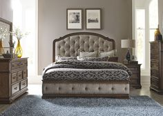 Amelia Upholstered Bedroom Set   Liberty   Home Gallery Stores