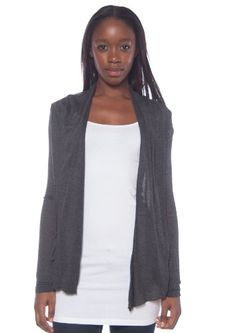 Active Products Women's Basic Comfortable Soft Easy Wear Cardigan Shawl Top