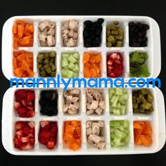 Infant Dinners: Prepping Finger Foods - mainly just the idea of the tray is… Toddler Finger Foods, Toddler Snacks, Toddler Dinners, Finger Foods For Babies, Fingerfood Baby, Food System, Homemade Baby Foods, Snacks Homemade, Baby Eating