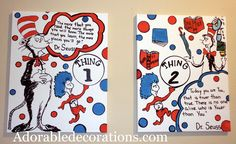 Cat in the Hat  Original Painting Decorations Room