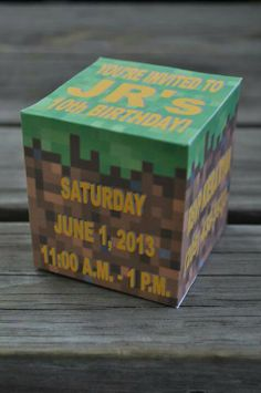 Minecraft Block Invitation #minecraft