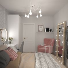 Small Room Design Bedroom, Bedroom Decor For Teen Girls, Girl Bedroom Designs, Room Ideas Bedroom, Home Room Design, Home Decor Bedroom, Cozy Room, Room Inspiration, Small Apartment Bedrooms