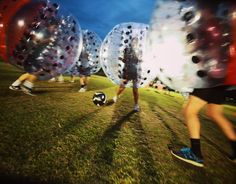 A bubble soccer tournament at Baylor University -- held to raise money for the Juvenile Diabetes Research Foundation!