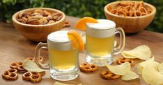 Grab a cold one and raise your mini mugs to the freakin' weekend with these mini beer Jell-O shots, made with wheat beer, gelatin, and orange whipped topping. Homemade Beer, Wheat Beer, Jell O, Belgian Beer, Shot Recipes, Agave Nectar, Beer Mugs, Whipped Topping, Food Videos
