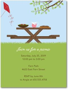 Summer Picnic And Bbq Invitation Flyer Or Template Text Is On Its