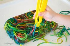 A Crafty LIVing - Fine Motor Dissecting www.acraftyliving.com