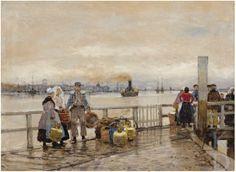 Hans Herrmann (1858-1942) Gezicht vanaf Papendrecht op Dordrecht  1873-1942 Lempertz (Berlijn), 211 #ZuidHolland #Dordrecht