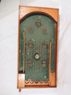 Antique french parlor bagatelle pinball table game by Frenchidyll, $100.00