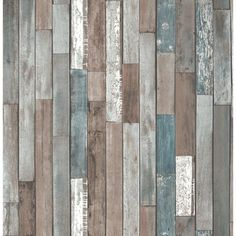 REALISTIC OLD RECLAIMED WOOD PANEL WOODEN PLANK WALL FEATURE WALLPAPER FD40888    eBay