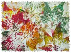 15 techniques et astuces de peinture que vous allez adorer tester avec vos enfants - Autumn Crafts, Autumn Art, Nature Crafts, Autumn Trees, Autumn Leaves, Painting For Kids, Art For Kids, Crafts For Kids, Children Painting