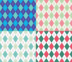 Argyle Set fabric by diane555 on Spoonflower - custom fabric