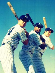 New York Yankees Tino Martinez Bernie Williams and Paul O'Neil