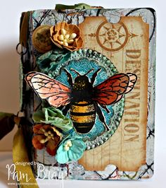 Mixed Media Passport Mini Album with Eileen Hull's Inspiration Team and Stampotique Orginals Stamps