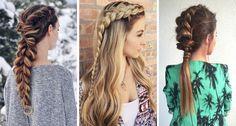Inspiración para mujeres que buscan hacer peinados con trenzas para el día a día. Colas con trenzas, semi-recogidos con trenzas y vídeo tutoriales