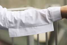 Innovative Pattern Cutting - white shirt sleeve detail with protruding seam panel; creative sewing // Louise Gray
