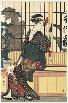the chiyozuru teahouse / utamaro / 1750 - 1806