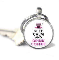 Coffee Lover Gifts - Coffee Keychain - Keyring for Her - Coffee Gifts - Gifts for her (CLG1)
