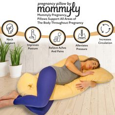 BUY NOW: Mommyly Full Body Pregnancy Pillow replaces the need for other pillows + provides maximum comfort + support. Relieve your pain and body aches this holiday season! Mommyly pillows allow a comfortable night's rest for Mom. Tips For Pregnant Women, Get Pregnant Fast, Pregnant Diet, Getting Pregnant, Healthy Pregnancy Tips, Pregnancy Health, Pregnancy Care, Pregnancy Workout, Pregnancy Pillow