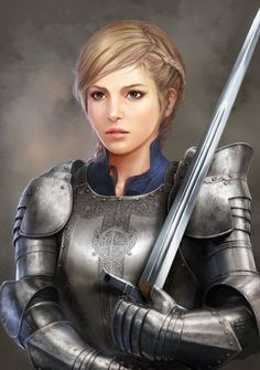 f Fighter Plate Armor Longsword portrait urban City Castle ArtStation medieval woman knight by Seung Chan Hong lg Inspiration Drawing, Fantasy Inspiration, Character Inspiration, Fantasy Girl, Fantasy Women, Female Armor, Female Knight, Fantasy Portraits, Character Portraits