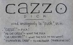 The quintessential Italian swearword ~ cazzo ~ how to learn italian