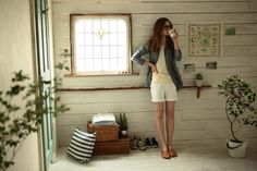 """pedalfar: """"Sunday mornings - Drifter & the Gypsy """" Preppy Style, My Style, Sweet Home, Gypsy Style, Spring Collection, Distressed Denim, Simple Style, What To Wear, White Shorts"""