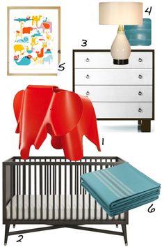 Eames Elephant Inspired Nursery